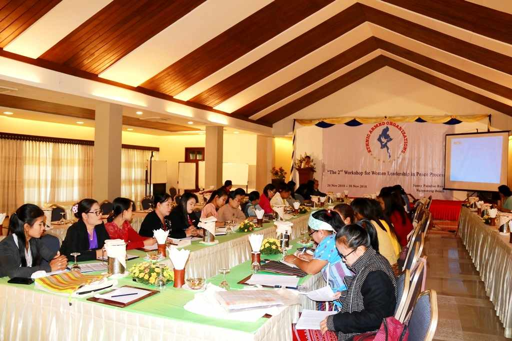 The 2nd Workshop for Women Leadership in Peace Process is held in Ngwe Saung