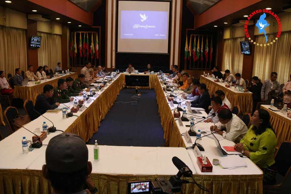 The Negotiation Meeting between the Government and NCA-S EAO held in NRPC, Yangon Yesterday