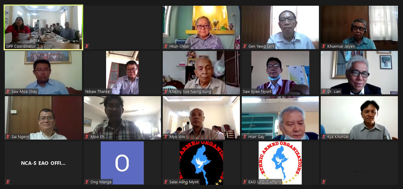 Peace Process Steering Team Meeting (10/ 2020) held in video conference this morning