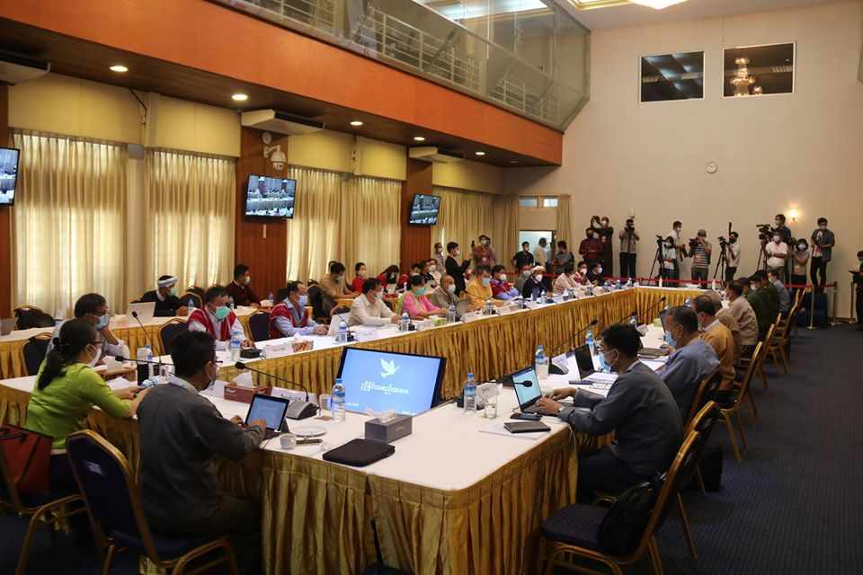 6th Negotiation Meeting between Government and NCA-S EAO held in NRPC, Yangon this morning