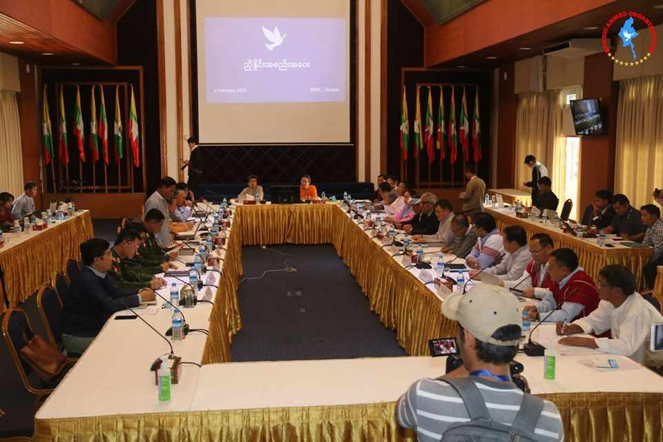The Negotiation Meeting between the Government and NCA-S EAO held in NRPC, Yangon today