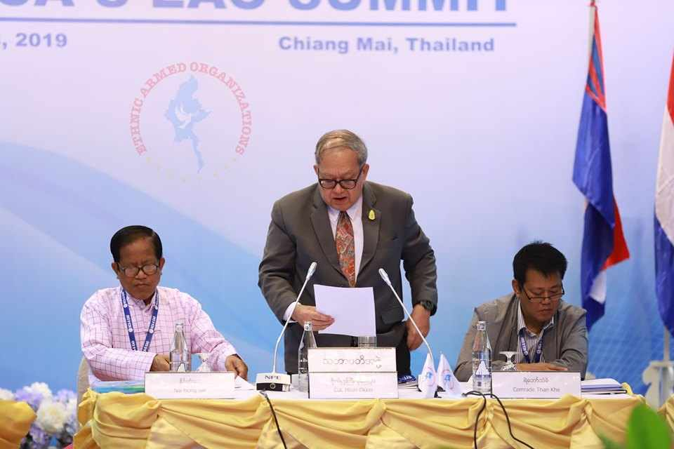 The opening speech of Colonel Khun Okker on Day 4 of 4th NCA-S EAO Summit