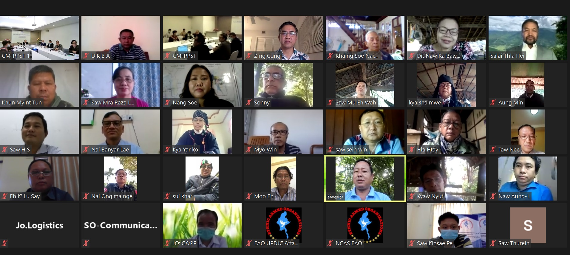 Peace Process Steering Team Meeting (12/ 2020) held through online video conference today